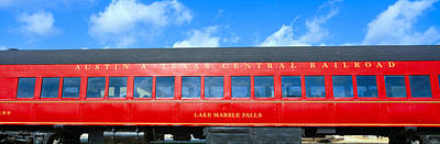 Caboose Photograph - Historic Red Passenger Car, Austin & by Panoramic Images
