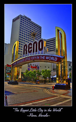 Comics Royalty-Free and Rights-Managed Images - Historic Reno Sign by Ricky Barnard