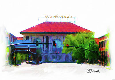 Painting - Historic Rio Grande Station by Stephen Mitchell