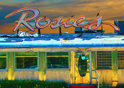 Tv Commercials Photograph - Historic Rosie's Diner by Randall Nyhof