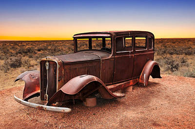 Historic Route 66 Print by Edwin Verin