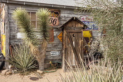 Photograph - Historic Route 66 - Outhouse 2 by Liza Eckardt