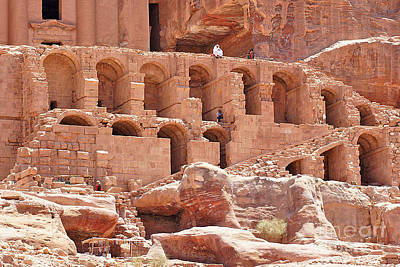 Photograph - Historic Ruins In Petra by David Birchall