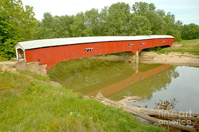 Photograph - Historic Rural Indiana Covered Bridge by Adam Jewell