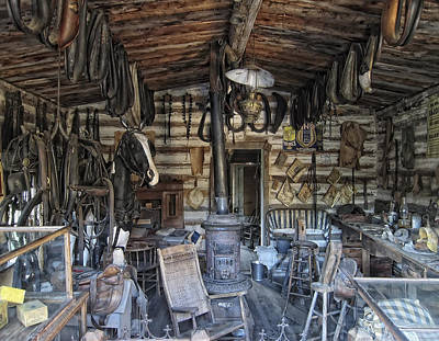 Historic Saddlery Shop - Montana Territory Art Print by Daniel Hagerman