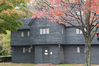 Photograph - Historic Salem Witch House by Jeff Folger