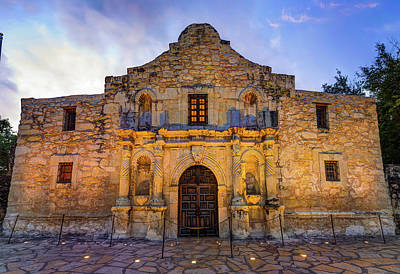 Photograph - Historic San Antonio Alamo Mission - Color Edition by Gregory Ballos