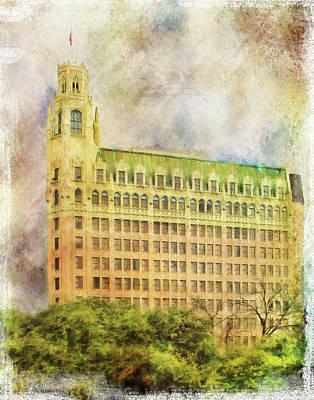 Riverwalk Photograph - Historic San Antonio Hotel by David and Carol Kelly