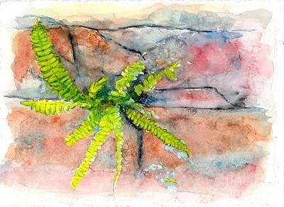 Painting - Historic Savannah Wall Weed by Doris Blessington
