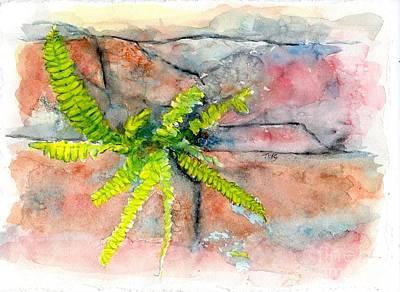 Art Print featuring the painting Historic Savannah Wall Weed by Doris Blessington