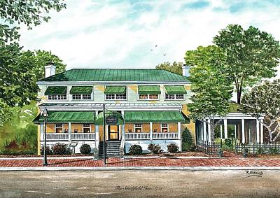 Historic Site Painting - Historic Smithfield Inn by Raymond Edmonds