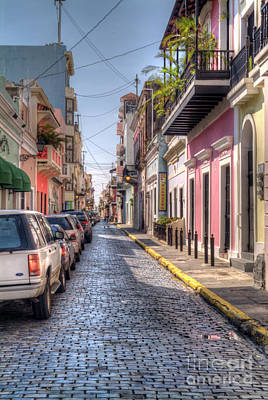 Photograph - Historic Spanish Colonial Street  by David Zanzinger