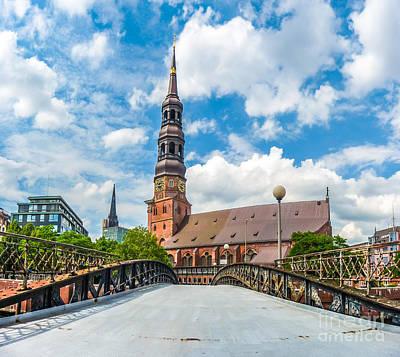 Historic St. Catherine's Church In Hamburg, Germany Art Print by JR Photography