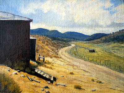 Painting - Historic Stage Coach Road Virginia City Bodie Sweetwater Road Nevada by Evelyne Boynton Grierson