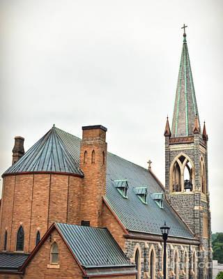 Thomas Kinkade - Historic Staunton Virginia - St. Francis of Assisi Catholic Church by Kerri Farley