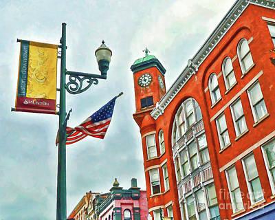 Photograph - Historic Staunton Virginia - The Clocktower - Art Of The Small Town by Kerri Farley