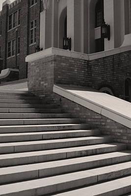 Historic Steps Little Rock Central High School Art Print by Brian M Lumley