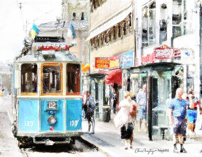 Painting - Historic Stockholm Tram by Chris Armytage