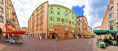 Photograph - Historic Street Of Innsbruck Panoramic View by Brch Photography