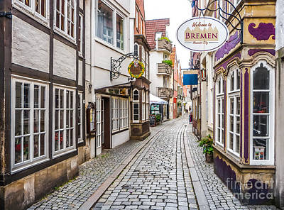 Bremen Photograph - Historic Streets Of Bremen by JR Photography