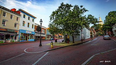 Photograph - Historic Streets by Walt Baker