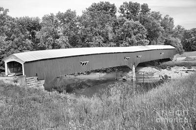 Photograph - Historic Sugar Creek Crossing Black And White by Adam Jewell