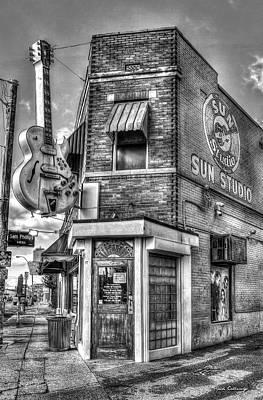 Photograph - Historic Sun Studio B W Memphis Tennessee Art by Reid Callaway