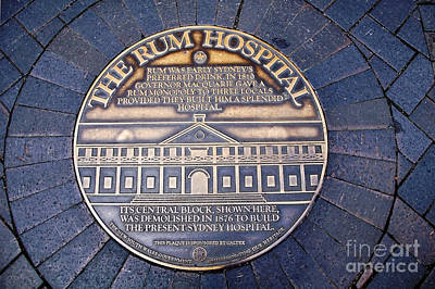 Photograph - Historic Sydney Hospital - Plaque On Sidewalk by Kaye Menner