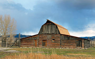 Photograph - Historic Timber Barn by Nicholas Blackwell