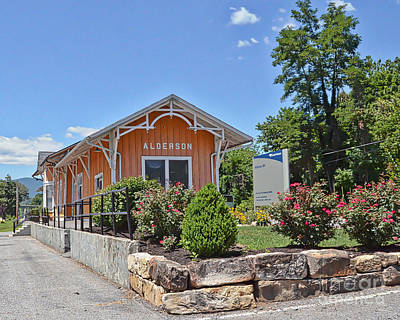 Photograph - Historic Train Depot Alderson West Virginia by Kerri Farley