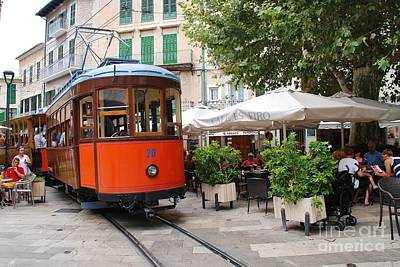 Photograph - Historic Tram At Soller In Majorca by David Fowler