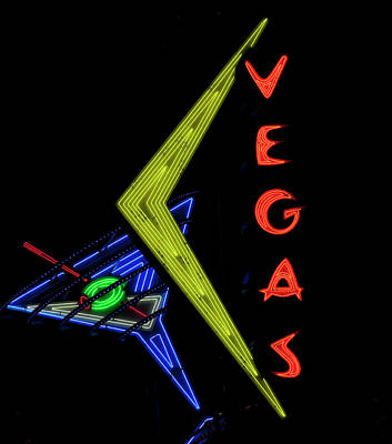 Photograph - Historic Vegas Neon Sign On Fremont Street In Las Vegas, Nevada by Carol Highsmith