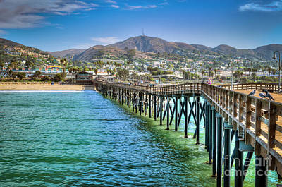 Historic Ventura Wood Pier Art Print by David Zanzinger