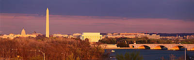 Historic Washington Dc Skyline At Dusk Art Print by Panoramic Images
