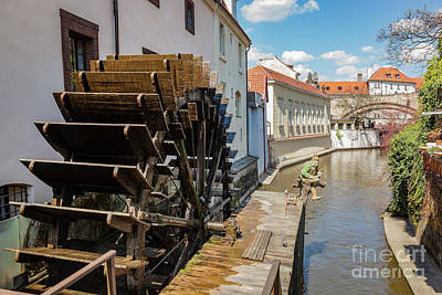 Photograph - Historic Water Mill On Kampa Island In Prague, Czech Republic. by Michal Bednarek