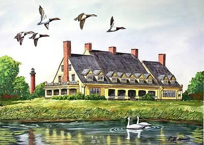 Historic Building Painting - Historic Whalehead Club by Raymond Edmonds