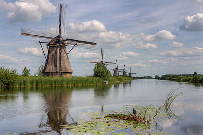 Photograph - Historic Windmills In Holland by Clare Bambers
