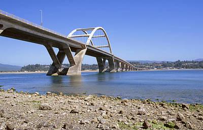 Oregon Coast Photograph - Historic Yachats Bridge by Buddy Mays