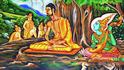 Painting - Historical Buddhist Teaching by Ian Gledhill