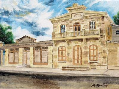 Mike Martin Painting - Historical Buildings by Mike Martin