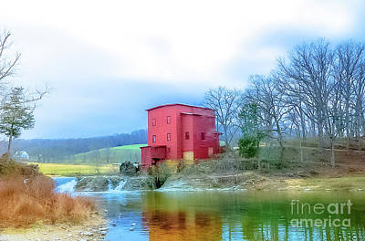 Photograph -  Historical Dillard Mill 1908 by Peggy Franz