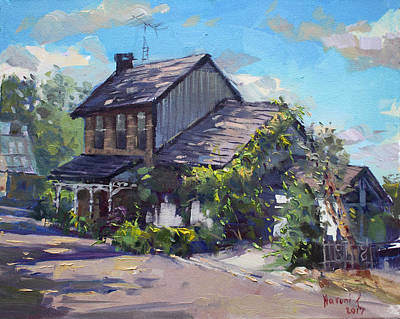Georgetown Wall Art - Painting - Historical House Ontario by Ylli Haruni