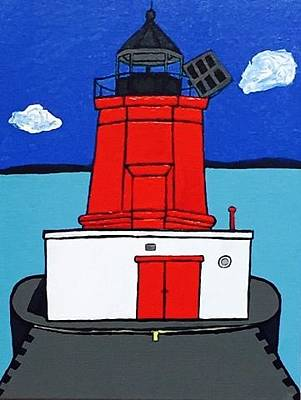 Painting - Historical Menominee Michigan Lighthouse Painting by Jonathon Hansen