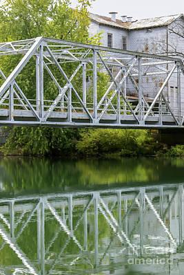Photograph - Historical Mill And Bridge Ozark by Jennifer White