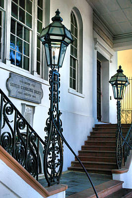 Historical Society Entrance Art Print by Steven Ainsworth