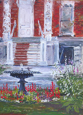 Painting - Historical Society Garden by Jan Byington