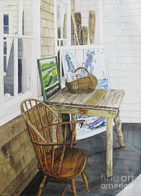 Painting - Historical Society Porch by Carol Flagg