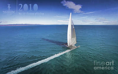 Sausalito Photograph - History 2010 America's Cup by Chuck Kuhn