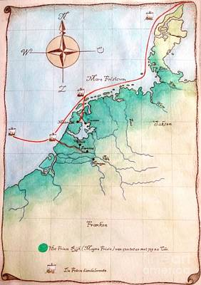 Painting - Magna Frisia- Frisian Kingdom by Annemeet Hasidi- van der Leij