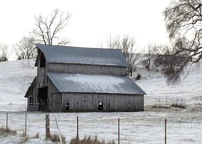 Photograph - History Barn In Color  by J L Zarek